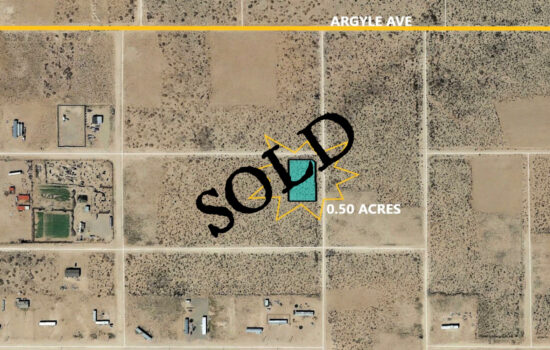 0.5 Acre lot on Robeline in El Paso, Texas! INVEST NOW!!- H779-051-3880-0070
