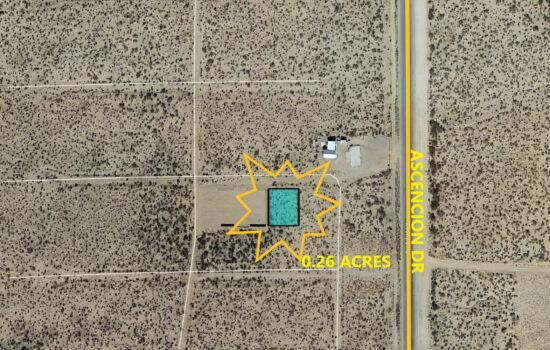 0.26 Acres Off Ascencion Dr in El Paso, Texas! INVEST NOW!!- H793-001-0010-0030