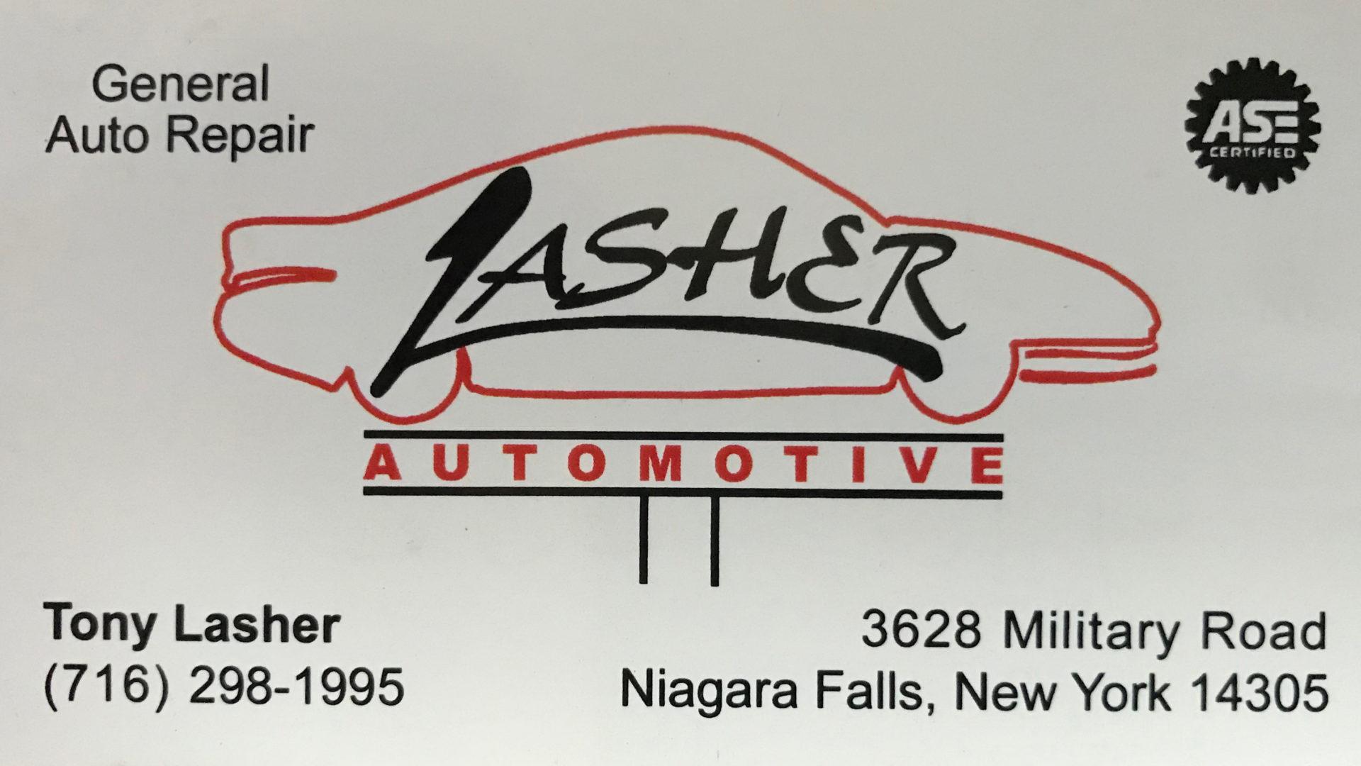 Lasher Automotive Repair Shop Niagara Falls, NY – Complete