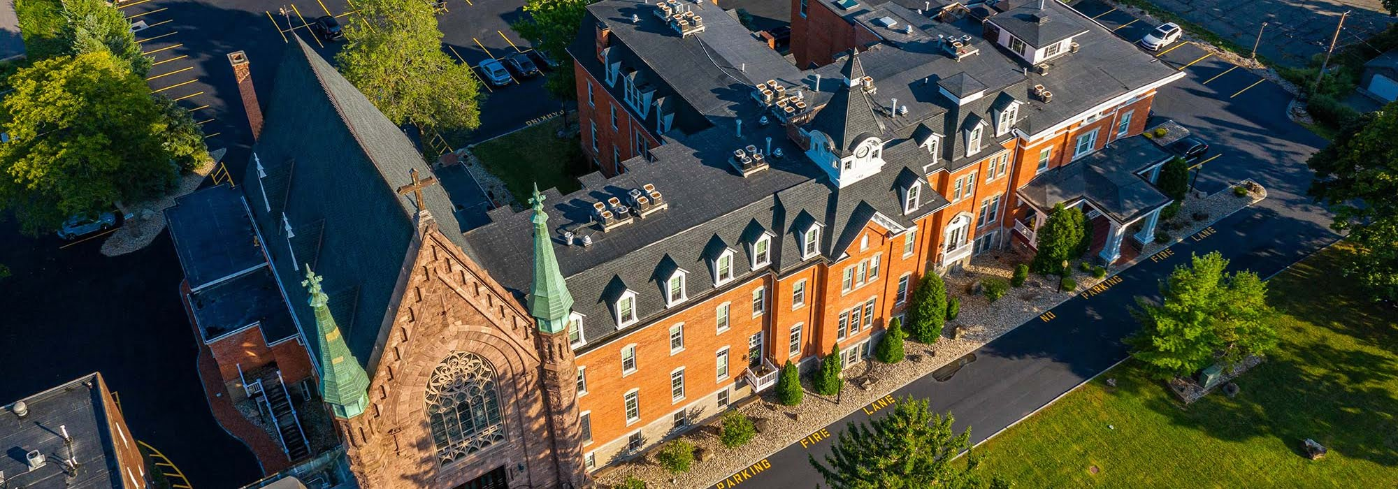 Cobblestone School aerial