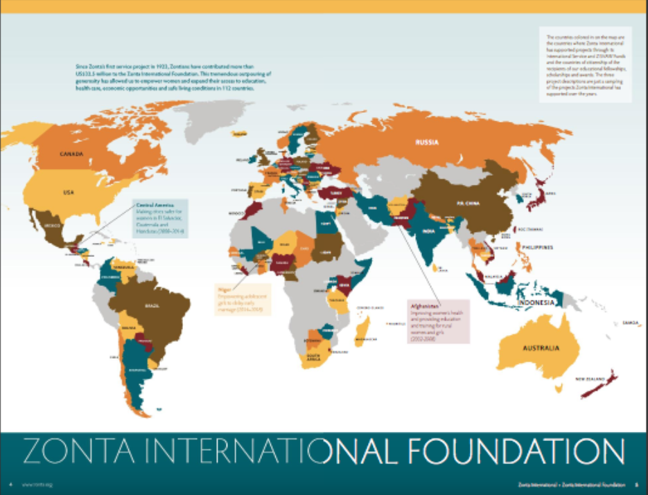 Zonta International Service projects Annual Report 2017