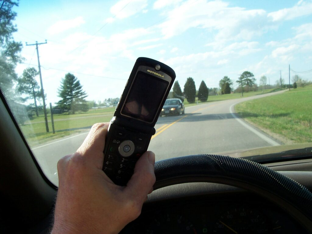 distracted driving in Alberta, Canada
