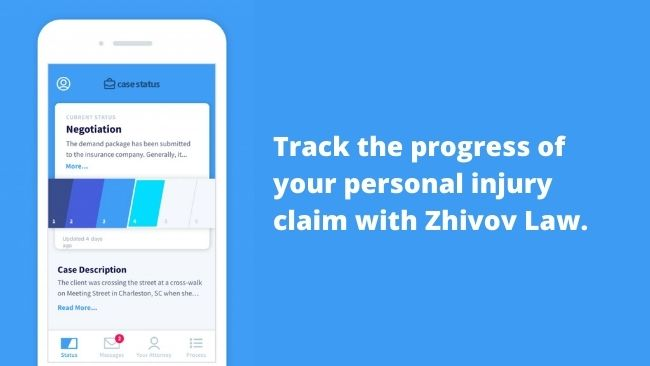 Personal injury law claim tracking app