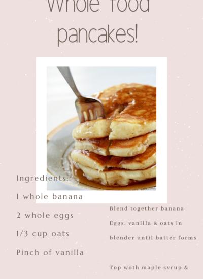 Whole 30 Banana Pancakes