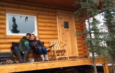 Donnie and Vanessa at cabin