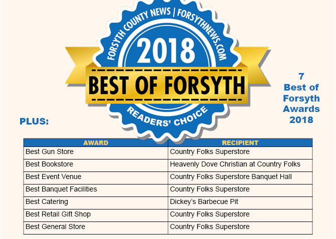Best of Forsyth awarded to Country Folks Superstore
