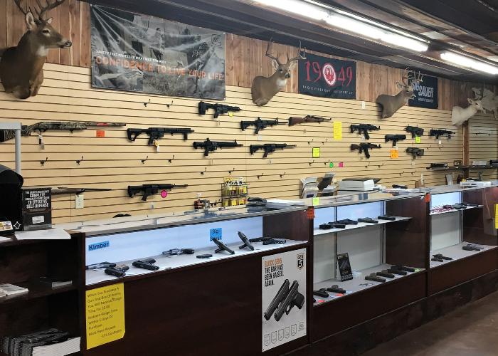 Rifles and gun sales at Country Folks Superstore, Cumming, Georgia