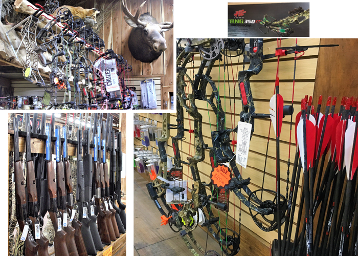 Bows and firearms at Country Folks Superstore, Cumming, Georgia