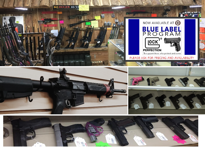 Smith and Wesson, Targus, Kimber, and other guns at Country Folks Superstore, Cumming, Georgia