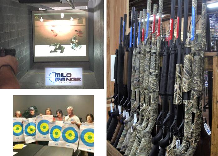 Rifle sales and gun range at Country Folks Superstore, Cumming, Georgia