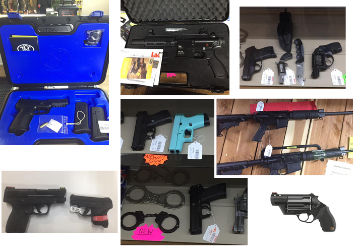 Country Folks Superstore handguns and other firearms and also handcuffs