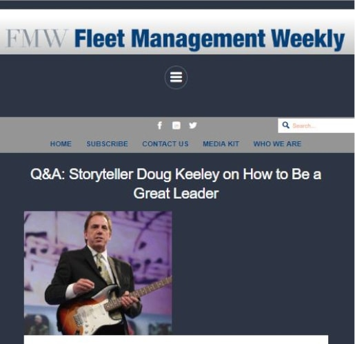Corporate storyteller Doug Keeley on how to be a great leader