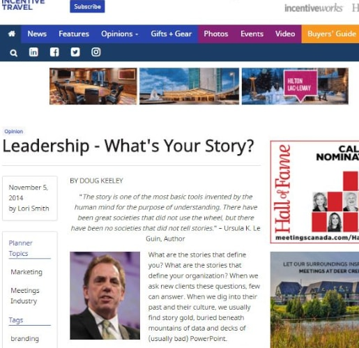 Leadership - what's your corporate story?