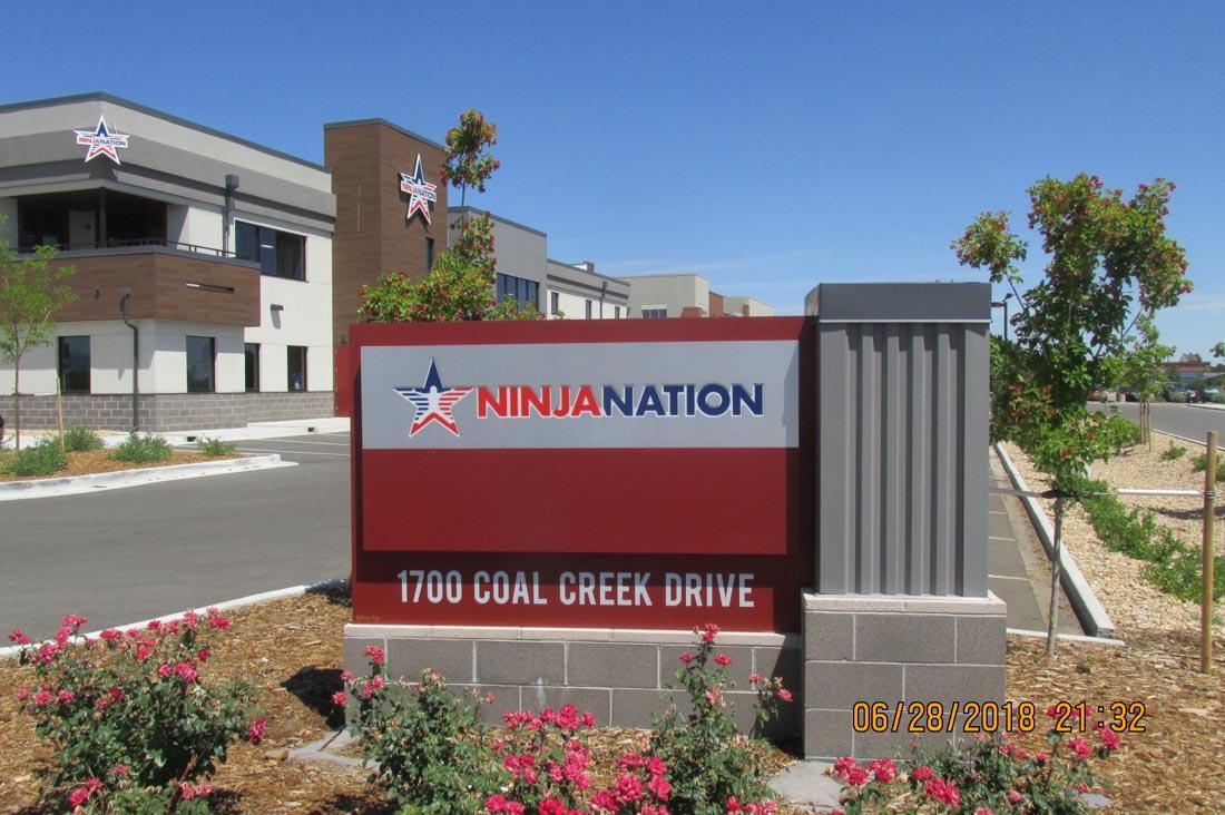 Ninja Nation Monument Sign