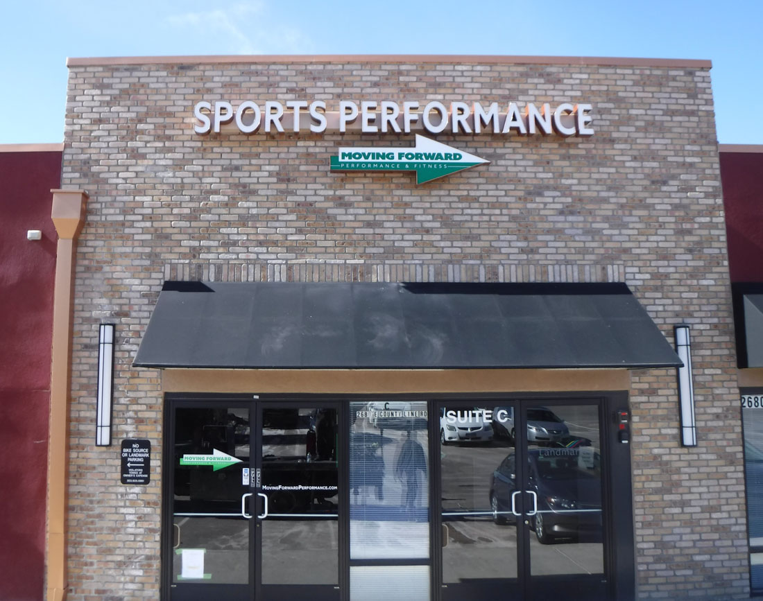 Sport performance channel letters