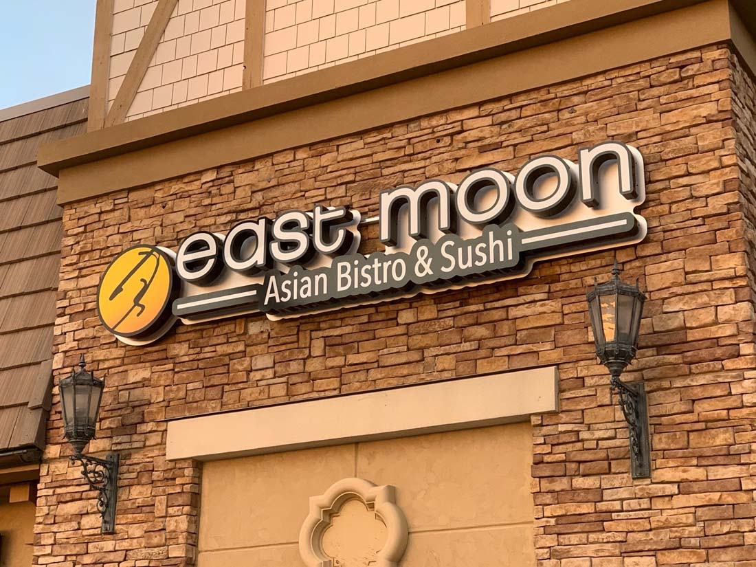 East Moon Sushi 3D Sign