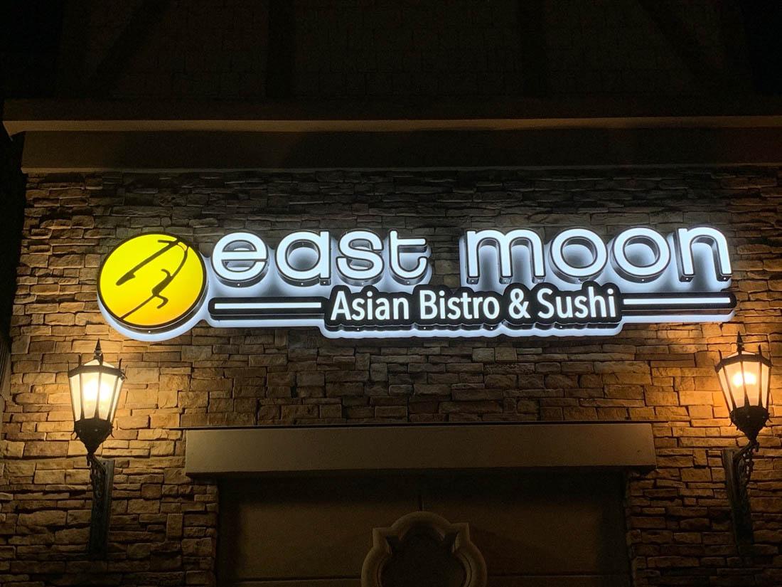 Asian Bistro & Suhshi illuminated sign