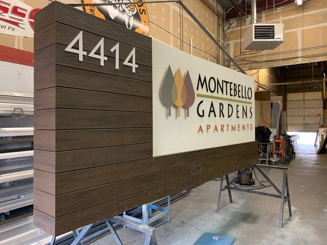 Monte Bello Gardens Sign