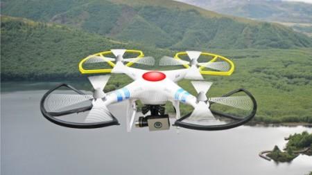 UAV over a lake