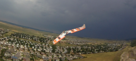 FPV Wing in flight