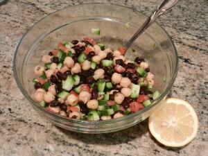 Mediterranean Chickpea and Black Bean Salad