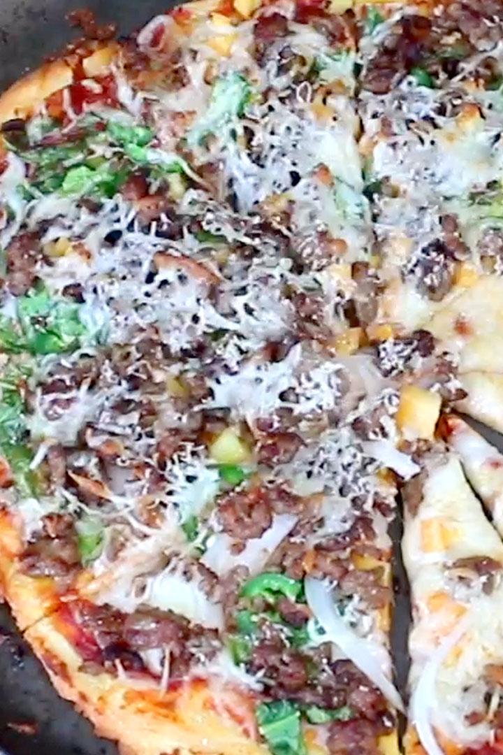 Keto Fathead Dough Pizza
