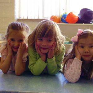 Kids at Sunday School