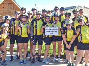 Team Wellshire riders at Elephant Rock, 2015
