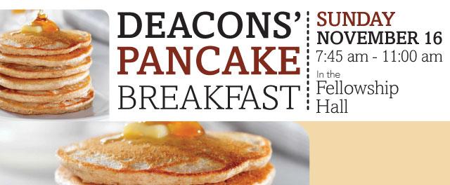 Deacons' Pancake Breakfast