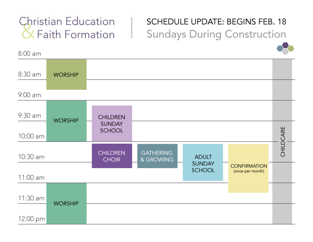 Revised Sunday morning schedule