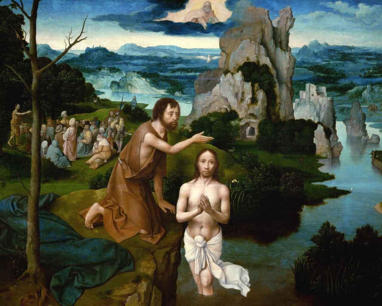 sermon illustration the Baptism of Christ by Joachim Patinir