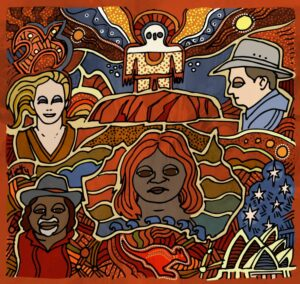Australia illustration by Timothy Mietty