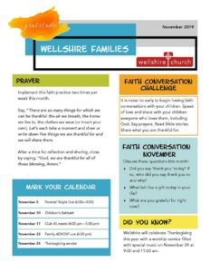 Families Newsletter Cover