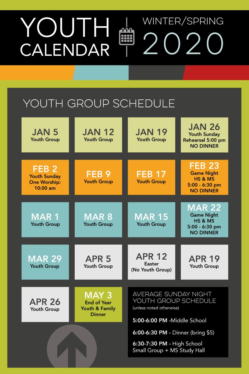 Youth calendar spring 2020