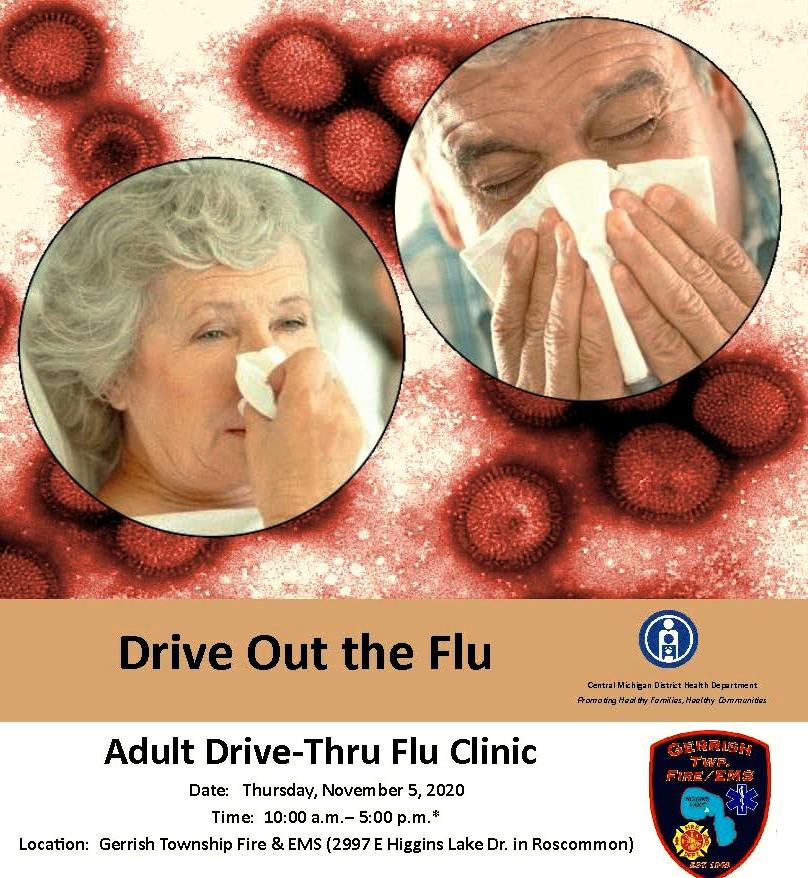 Drive-Thru Flu Clinic  NOVEMBER 5, 2020