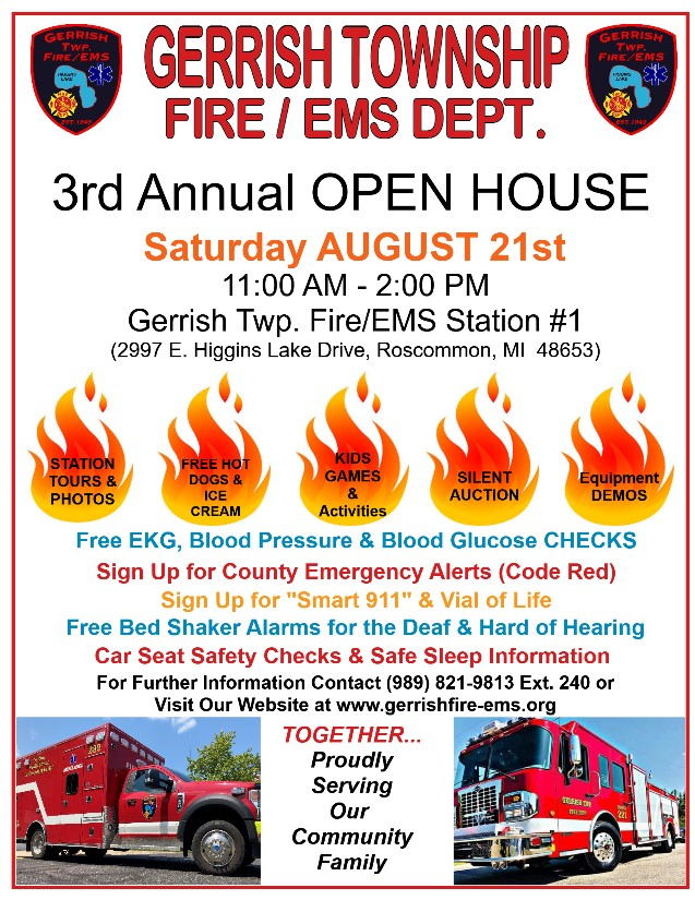 Annual OPEN HOUSE – August 21, 2021