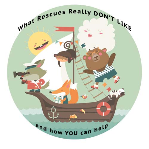 Graphic with animals asking 'what recues don't need.