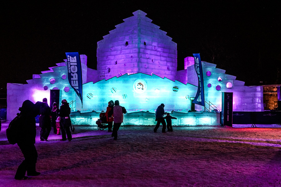 Bonhomme Ice Palace at Quebec Winter Carnival