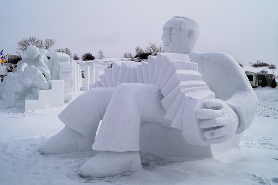 Ice Sculptures at Quebec Winter Carnival