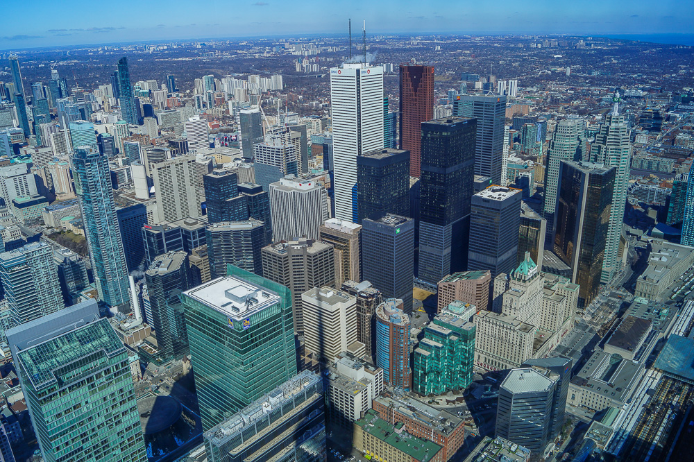 View from CN Tower LookOut Level