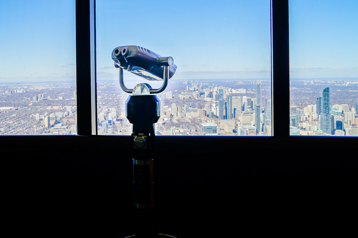 Telescope at CN Tower LookOut Level