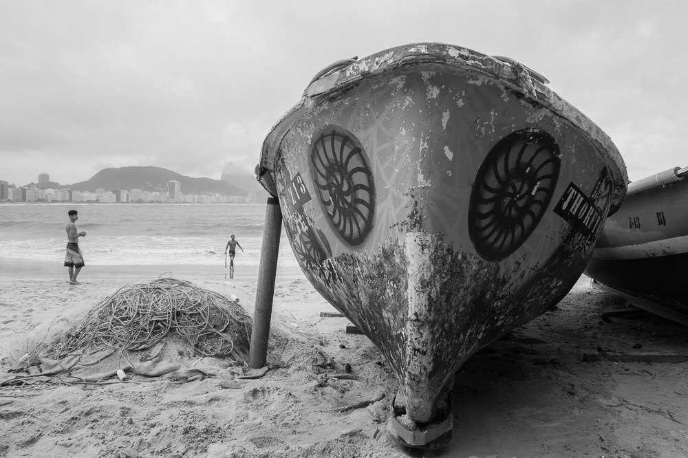 The poetry of Copacabana in black and white