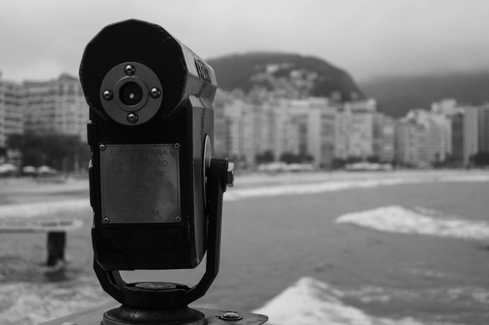 View Telescope in Copacabana Beach