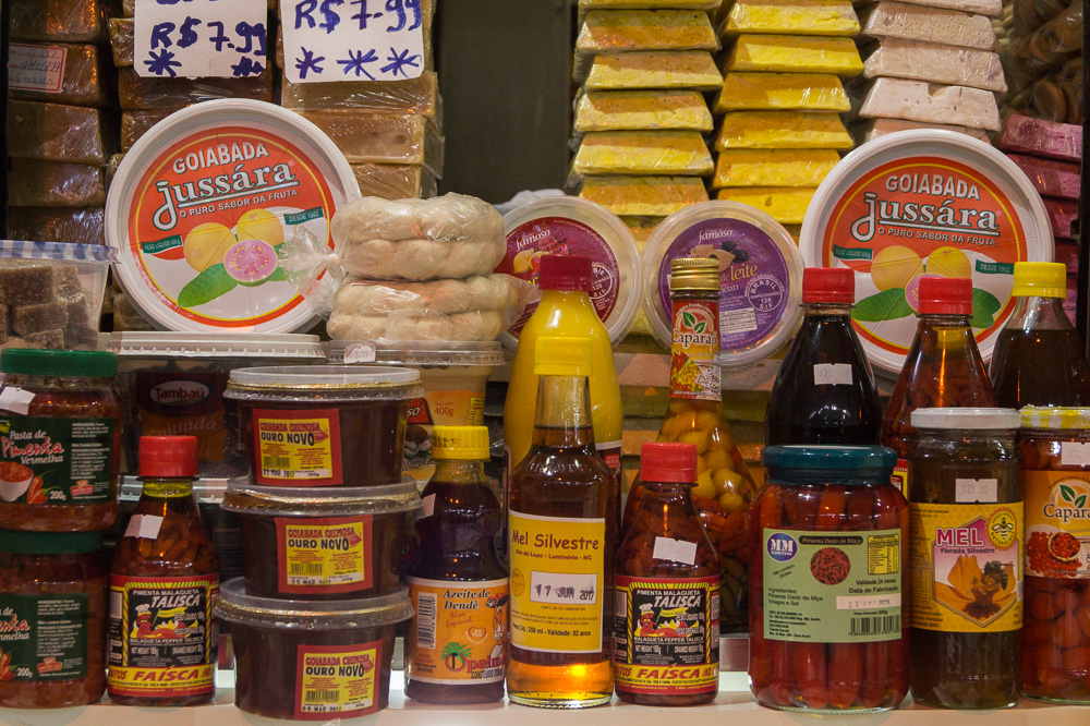 Spices and Sweets from northeast of Brazil in Feira de São Cristóvão