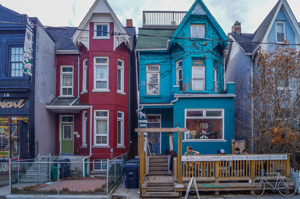 Colorful Houses in Kensington Market