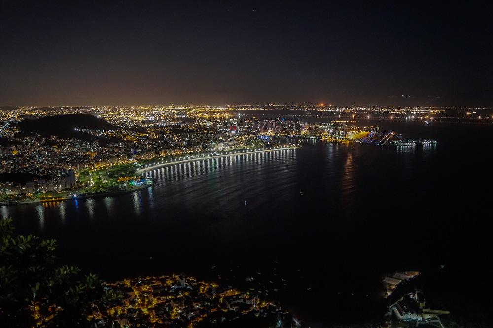 View from the Sugarloaf Mountain at Night