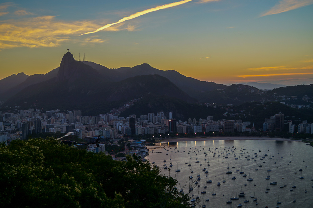 View from the Sugarloaf Mountain at Sunset
