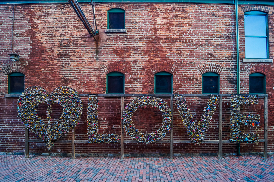Love Sign at Tank House Lane at the Distillery District