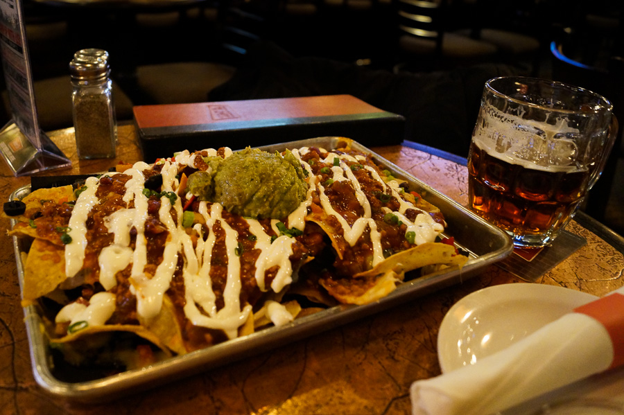 Loaded nachos at Mill Street Brew Pub