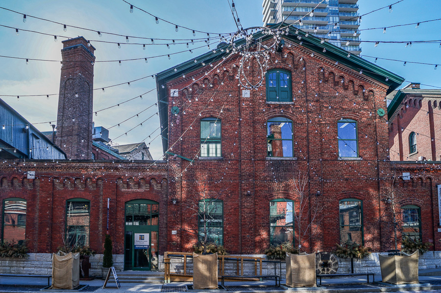 Trinity Street at the Distillery District